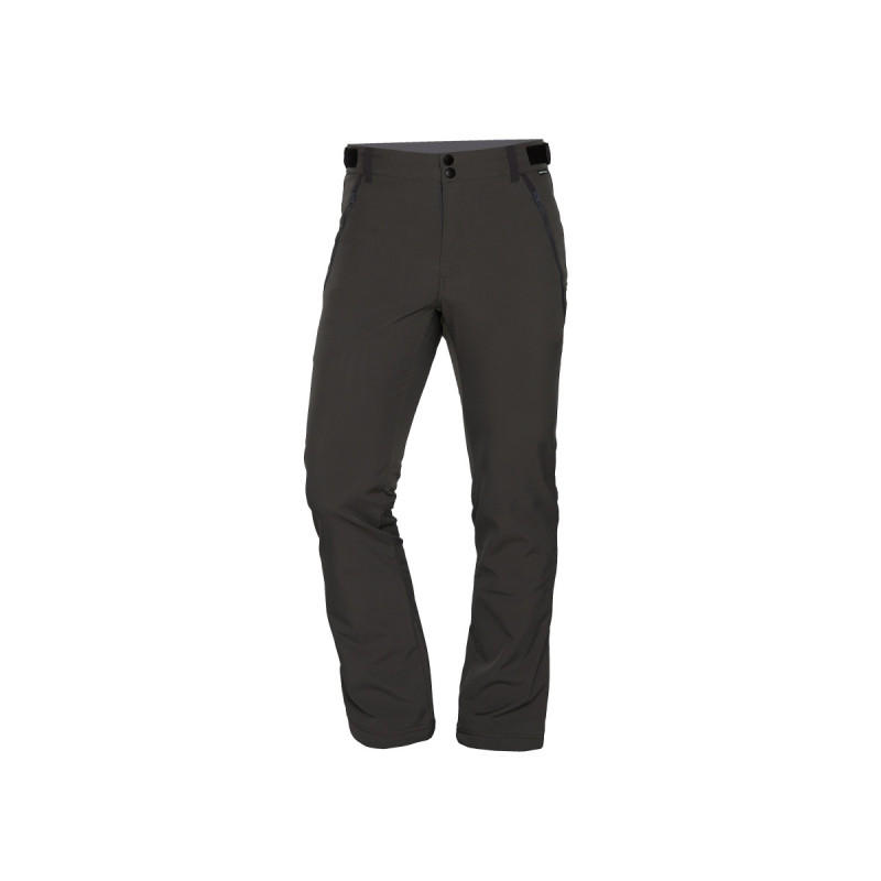 NORTHFINDER men's trousers softshell travel style 3L VINSTOR - A real bestseller. A simply and multipurpose 3-layer softshell pants for travel and trekking in cooler condition. VINSTOR is ready to wait out any weather and can be worn all day long. The insulated soft shell is durable and keeps you warm. Thanks a proportion of spandex they offer free movement and enough comfort. The adjustable elastic waistband and belt loops ensure perfect fixing. The three zippered pockets hold keys, bars and remain secure yet easily accessible. Drawcord cuff closures guard your footwear properly. A perfect timeless protective pants without limits. What more do you need?