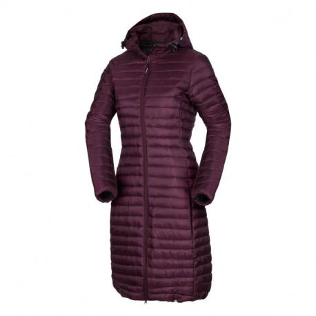 NORTHFINDER dámska bunda dlhá zateplená prešívaná s kapucňou VASPA