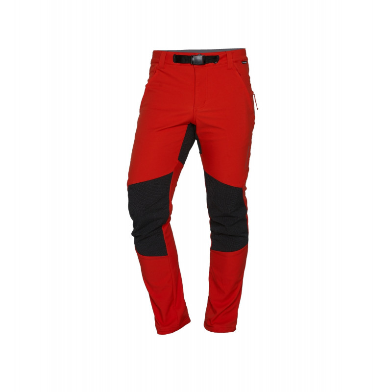 NORTHFINDER men's softshell trousers protect face outdoor 10/10 - Developed for protecting and mobility during winter trekking. These functional 3-layer insulated softshell pants are windproof, water-resistant and breathable. The elastic waistband has belt loops and is adjustable for a perfect fit. They have reinforced knee and rear reinforced. Pre-shaped knees ensure ergonomic comfort and flexibility. The width-adjustable seam protects you when hiking on muddy trails. Finally, the three zippered pockets offer enough space for all things you need. Not only practical, but also extremely comfortable are these durable trekking pants. Recommended for any adventure in cold weather.