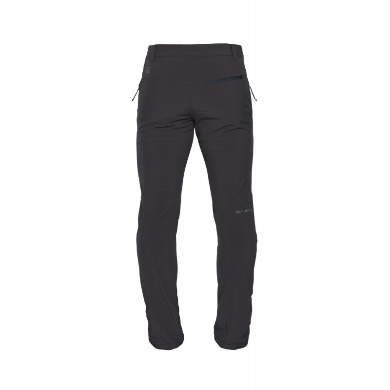 NORTHFINDER men's trousers softshell stretch durable 3L SIMET - The simple designed SIMET from NORTHFINDER are functional trekking pants for the cold season. The 3-layer insulated softshell ensures good protection against wind, rain and snow and also provides full dynamic mobility. Excellent moisture transport adds by full elastic and adjustable waistband, adjustable seams and pre-shaped knees ensures high level of comfort, when in move.Tree zippered pockets can store staff you need close to the body. The vertical thigh zipped pocket can put the keys.The classic regular cut predestines them not only for outdoor activities, but also makes them an ideal for a freetime wear as well.
