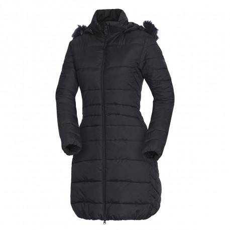 NORTHFINDER dámská bunda zateplená s kožešinou dlouhý styl extra size NIJA