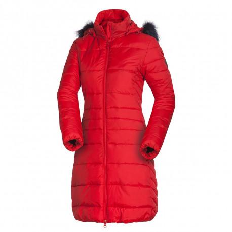 NORTHFINDER dámska bunda zateplená s kožušinou dlhý štýl EXTRA SIZE NIJA