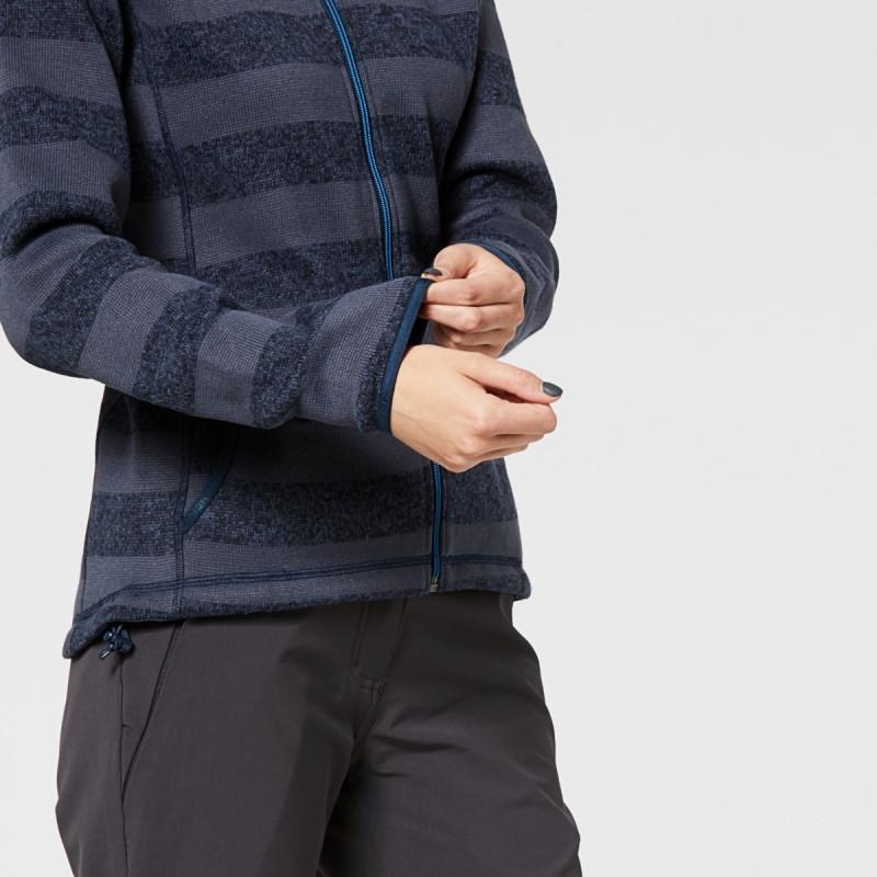 NORTHFINDER dámská mikina thermal s pruhy MEREDITH - Funkční mikina z pružného odolného materiálu z polyesterového vlákna s Ripstop úpravou se perfektně postará o váš komfort při aktivním pohybu a sportovních výkonech. Je to ideální vrchní vrstva v suchém počasí nebo jako druhá vrstva v zimě.