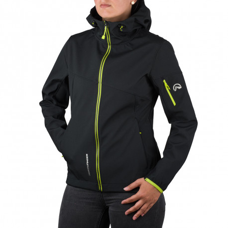 NORTHFINDER women's outdoor jacket 3-layer softshell AXYMETA