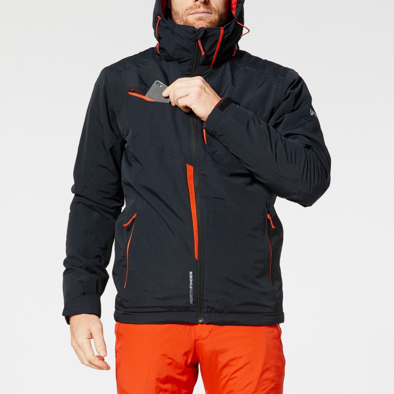 NORTHFINDER men's insulated jacket ski race 2-layer DEMETRIUS - Excellent technical ski jacket with NF® filling provides great protection against the winter and snow showers. The jacket is also equipped with numerous practical pockets to store valuables, glasses, ski pass, etc. Elegant and functional, ideal for enjoying skiing.