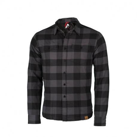 NORTHFINDER pánská zateplená flanelová košile – regular fit střih