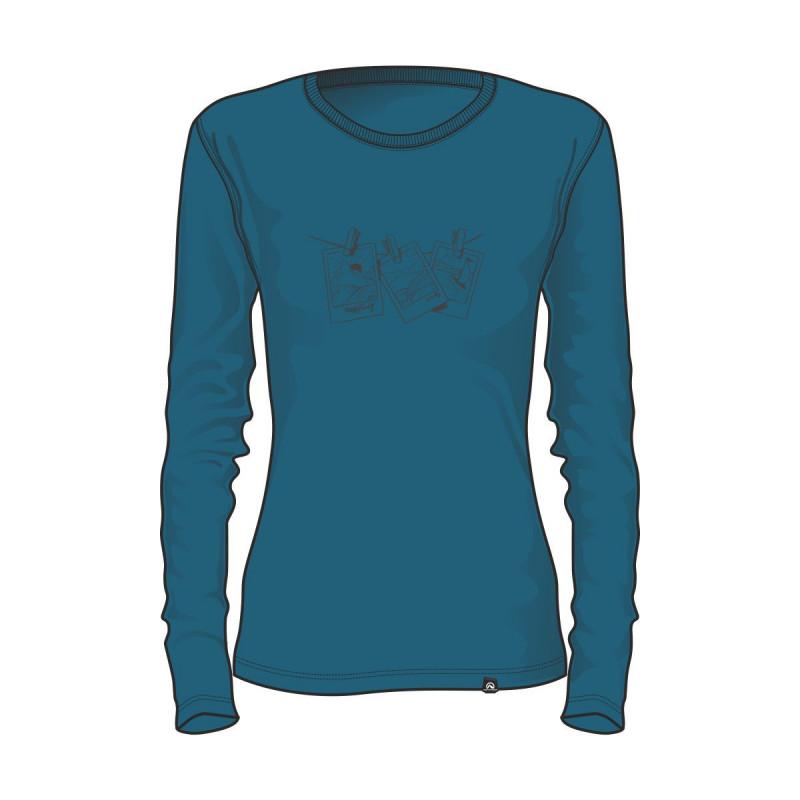 TR-4524OR dámske tričko bavlna s potlačou VANPITA -