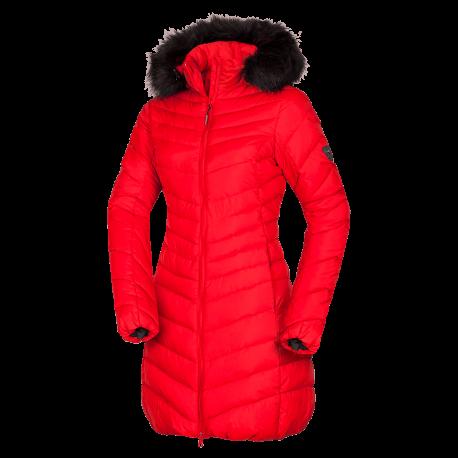 NORTHFINDER dámská bunda likedown dlouhá s kožešinou VONILA