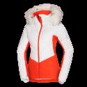 Dámska bunda lyžiarska zateplená prešívaná s kožušinou NORTHENAS