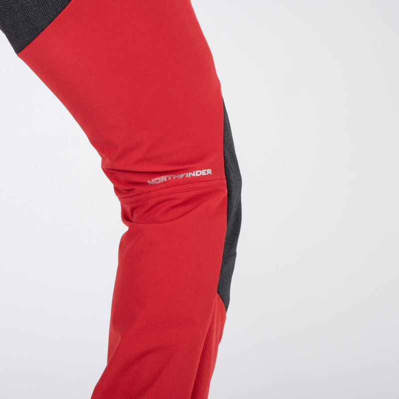 NORTHFINDER men's trousers trekking durable stretch SUDZET - <p>Made of Rib-structure fabric with 4-way stretch, the men's SUDZET pants are technical on the trail for the serious hiker. Thanks a higher proportion of spandex they offer mobility and enough comfort. The elastic waistband with silicone gripper and belt loops ensure perfect fixing. The adjustable leg cuffs protect your footwear form dirt. The knees and rear have been reinforced, making them durable enough for any environment. The front zipped hand pockets with mesh inside can be used as a ventilation. The SUDZE pants keep you comfortable after multiple hours and even days of trekking. That sounds good?</p>