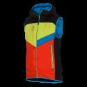 Pánska SKITOURING vesta aktívny šport zateplená Primaloft® izolácia Eco Black GORGINNO