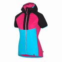 Women's ski-touring vest active sport insulated Primaloft® Insulation Eco Black RIKONA