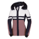 Women's ski insulated jacket designed for downhill skiing.