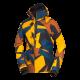Men's jacket insulated ski-camo BU-38002SNW