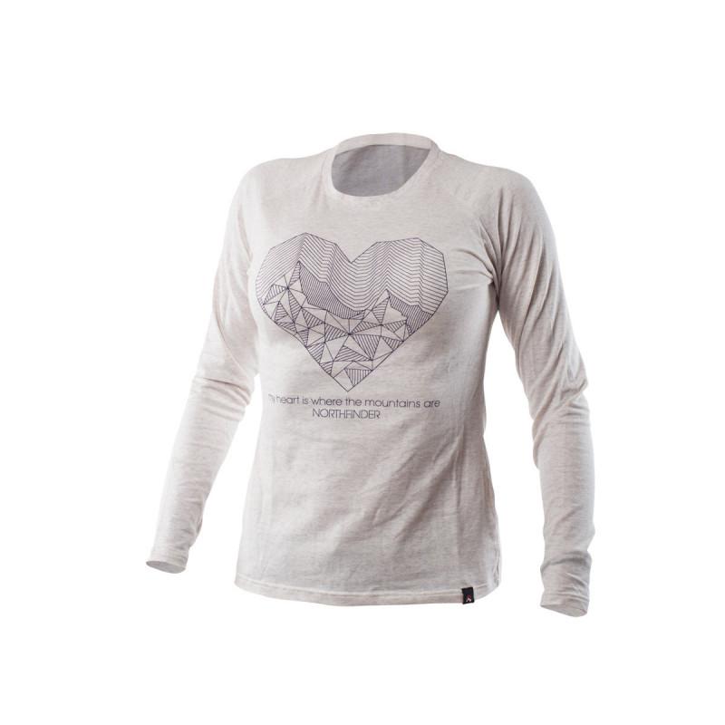 TR-4256SNW dámske tričko cotton heart melange BIBIANA -