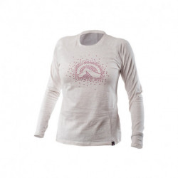 TR-4258SNW dámske tričko cotton logo stars melange ELVIRA