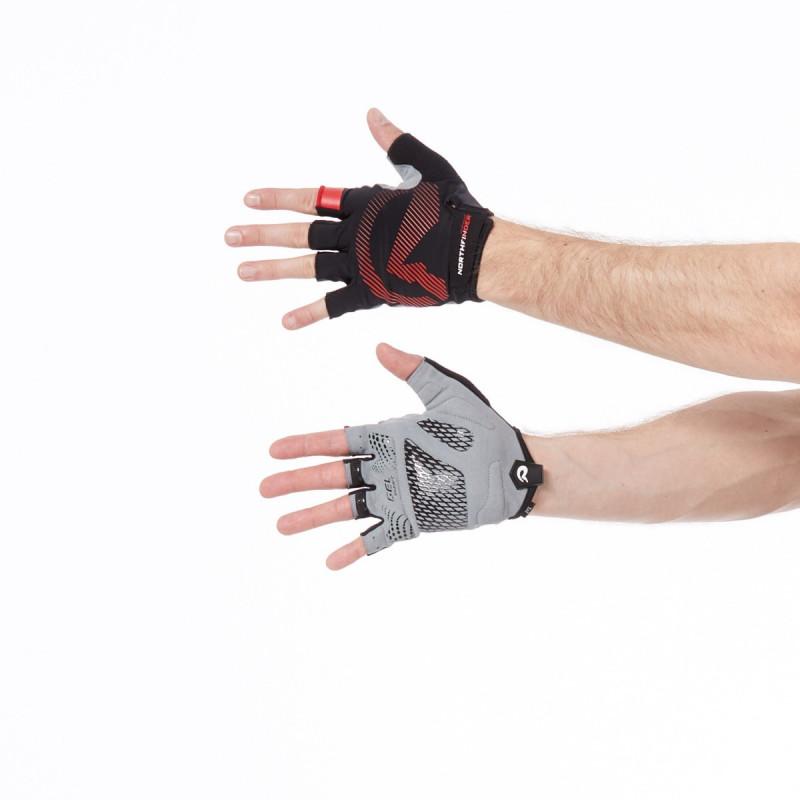 NORTHFINDER pánske rukavice Hi-tech cyklistické s gélovou výplňou MYSHORT - NORTHFINDER pánske rukavice Hi-tech cyklistické s gélovou výplňou MYSHORT
