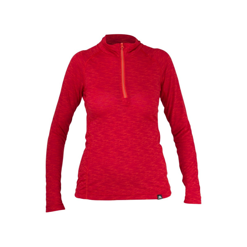 TR-4355SNW dámske tričko strečové polovičný zips LOLIA -