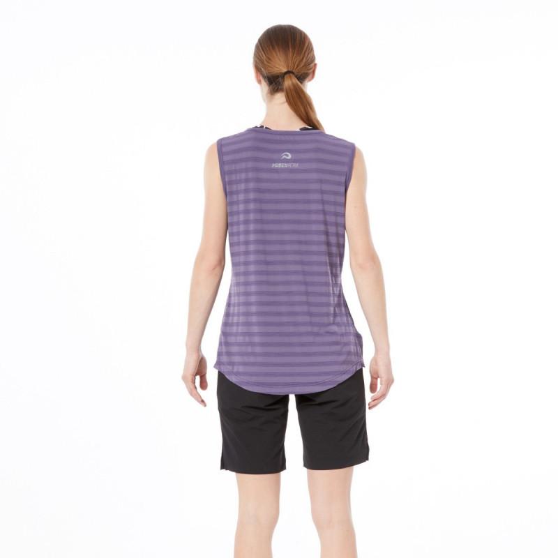 TR-43711SP dámske tričko loose-fit s pruhmi ZHYGHA -
