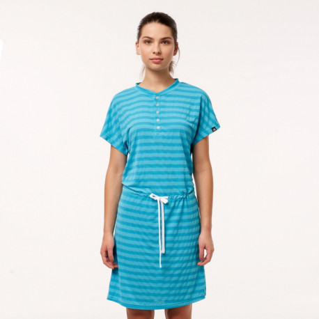 TR-4385SP women's stripe T-shirt long style EWKIA