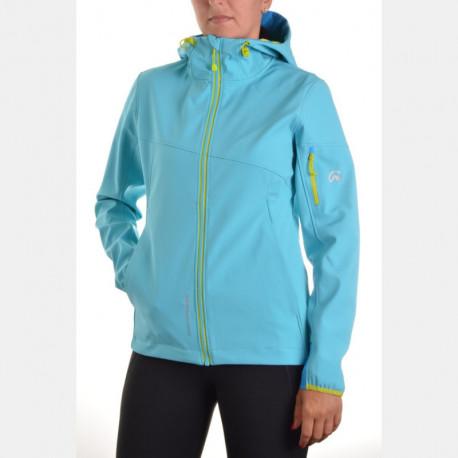 NORTHFINDER women's outdoor jacket 3-layer softshell AXYMETA