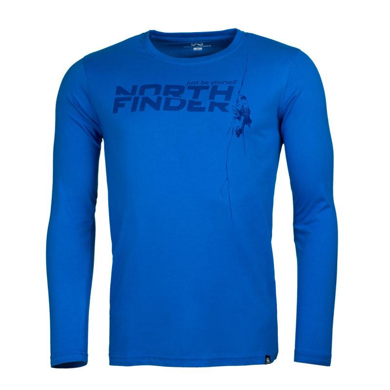 NORTHFINDER pánské funkční triko long comfort - Pánské triko vysoce prodyšného materiálu s dlouhým rukávem a originální potlačou.Triko je příjemné na dotek, pružné, lehké, komfortní a je vhodné na běžné nošení, či outdoorové aktivity.