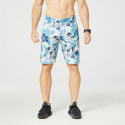 Shorts floral printing and stretch cotton LEONEY