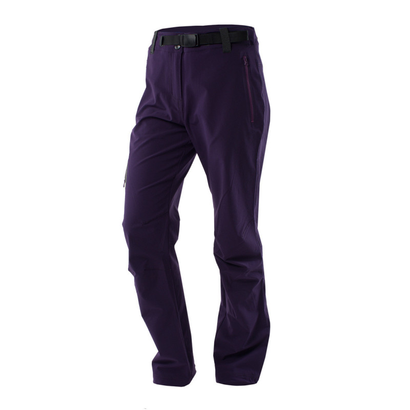 NORTHFINDER women´s trousers 1-layer Active outdoor RAMELLA - Simple hiking trousers of stretch fabric with water-repellent finish. Thanks to outstanding breathability, they a good fit for physically-demanding activities. Field tested cut, articulated knees with practical adjustment elements increase wearer comfort.