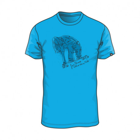 TR-3398SP men's freetime T-shirt solid cotton with rider DRAHAM