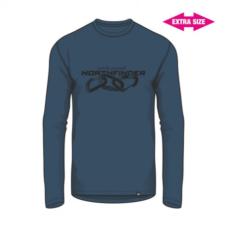 NORTHFINDER men's t-shirt organic cotton EXTRA SIZE CLIMB