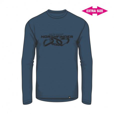 NORTHFINDER pánske tričko organická bavlna EXTRA SIZE CLIMB
