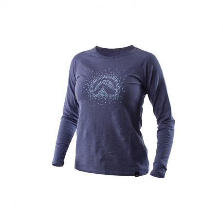 NORTHFINDER women's t-shirt cotton logo stars melange ELVIRA