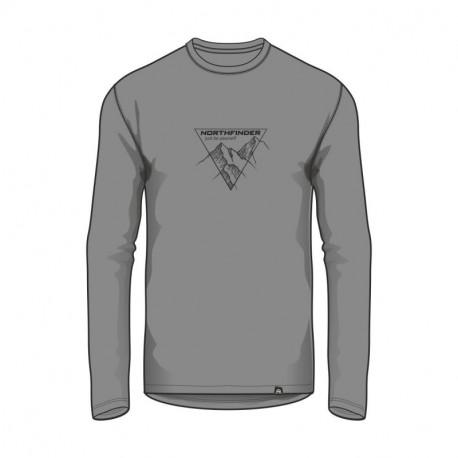 NORTHFINDER pánske tričko bavlna s potlačou VANPY