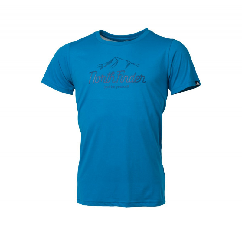 NORTHFINDER men's t-shirt active mountain DANNY - Universal breathable cotton shirt made of stretch material is designed for free time activities.