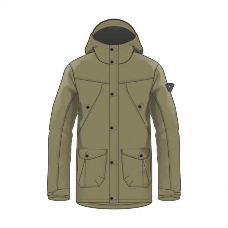 BU-3689SP men´s cotton-look jacket long style for cold weather LONGO