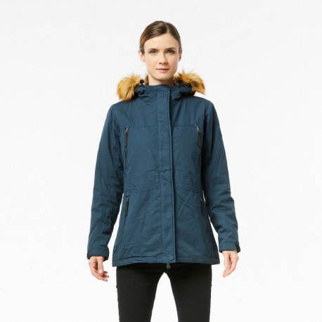 NORTHFINDER women's insulated cotton-look jacket street style long LAURITA