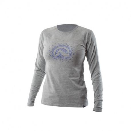 NORTHFINDER dámske tričko cotton logo stars melange ELVIRA