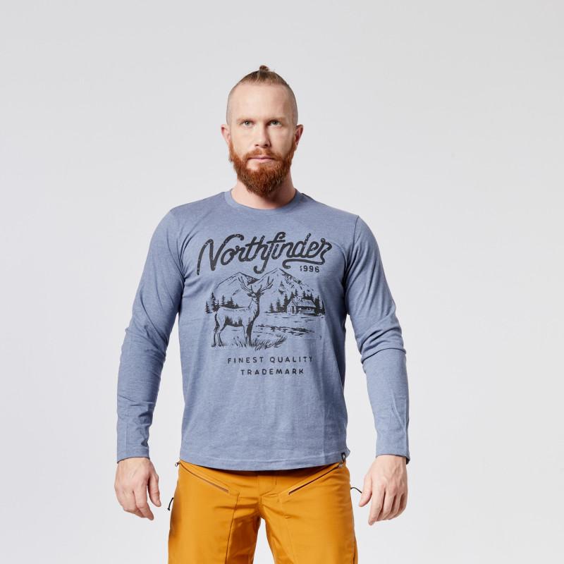 NORTHFINDER pánské triko melanžové bavlněný styl HUNTWER - Bavlněné pánské tričko značky NORTHFINDER s originálním designem. Benefity materiálu jsou ve vysoké prodyšnosti, jemnosti, savosti a komfortu při nošení. Recyklace je jednou z hlavních předností bavlny. Tričko je příjemné na dotyk, pružné, lehké, komfortní a je vhodné na běžné nošení nebo outdoorové aktivity. Neváhejte vyzkoušet tričko HUNTWER.