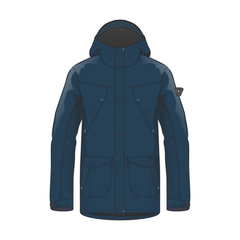 BU-3689SP men´s cotton-look jacket long style for cold weather LONGO - NORTHFINDER pánska bunda bavlnený vzhľad dlhý štýl do chladného počasia LONGO
